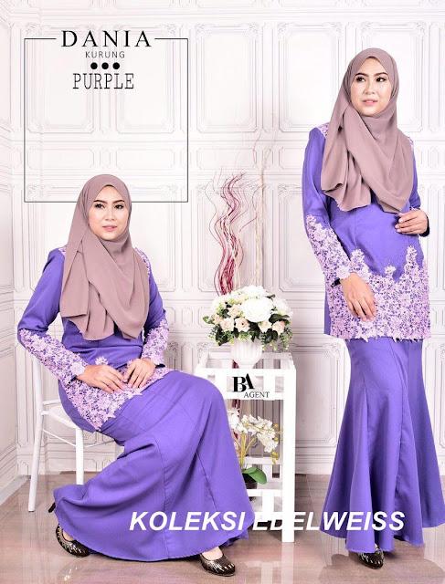 Baju Kurung Moden Purple 2017