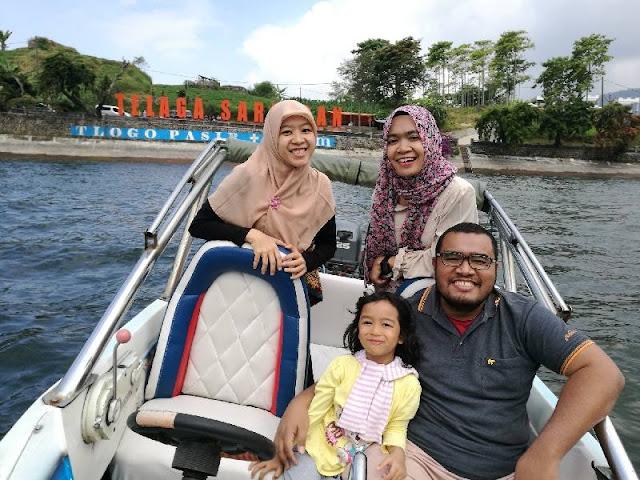 pengalaman naik speedboat di Telaga Sarangan