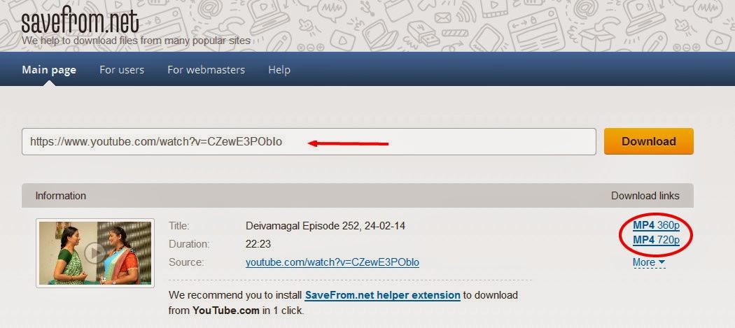 youtbe videos download