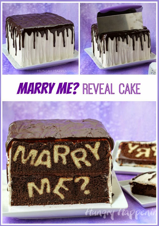 ... Unique Way to Propose - Marry Me? Reveal Cake - Hungry Happenings