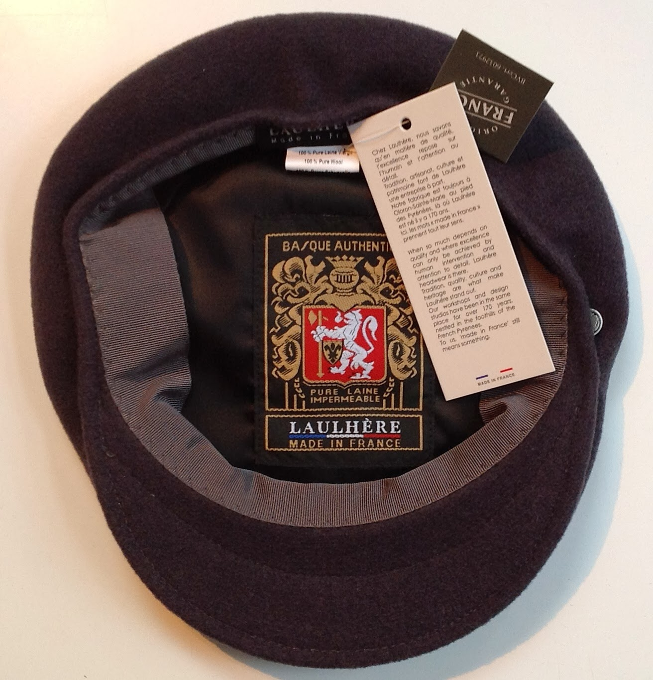 """254df39b584c15 All new are the """"Classic Workers Berets"""": No-nonsense, classic workers  berets in 100% merino wool, lined and carrying the decades old labels  Bortia and ..."""