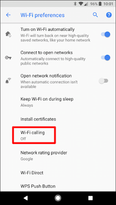 opzione Chiamata Wi-Fi