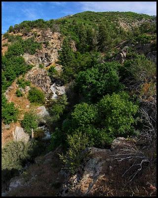 First set of Falls on the Three Falls Trail