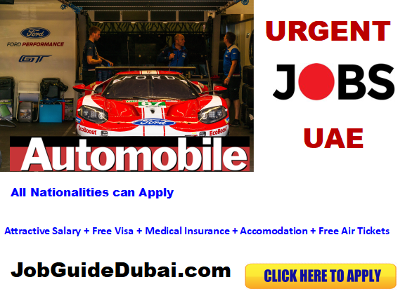 Automobile Career and jobs in Dubai UAE for latest vacancies 2019. All the current openings for technical, engineering, Sales and Operations job in Dubai