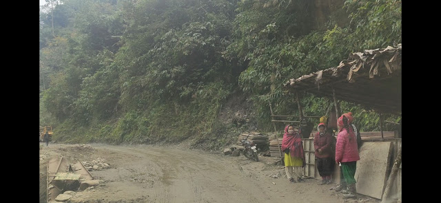 Aalo to Mechuka road condition.