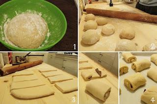 preparazione ricetta pane al cioccolato per bambini