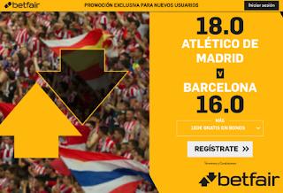 betfair supercuota liga Atletico vs Barcelona 1-12-2019