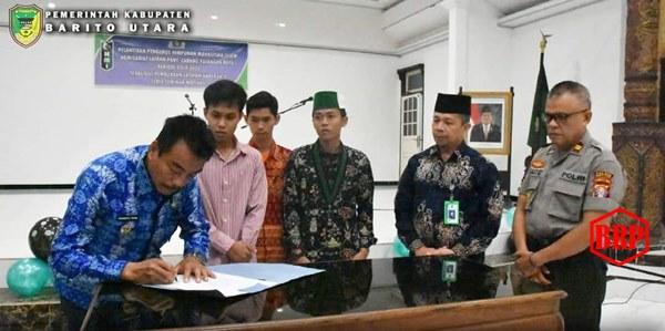 Wabup Sugianto Panala Putra Buka Latihan Kader 1 HMI Muara Teweh