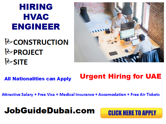 FREE VISA HVAC Engineer jobs in UAE with best and Group companies with attractive salary and benefits