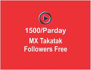How To Get Unlimited Followers On MX Takatak , MX Takatak Par Fans Kaise Badhaye
