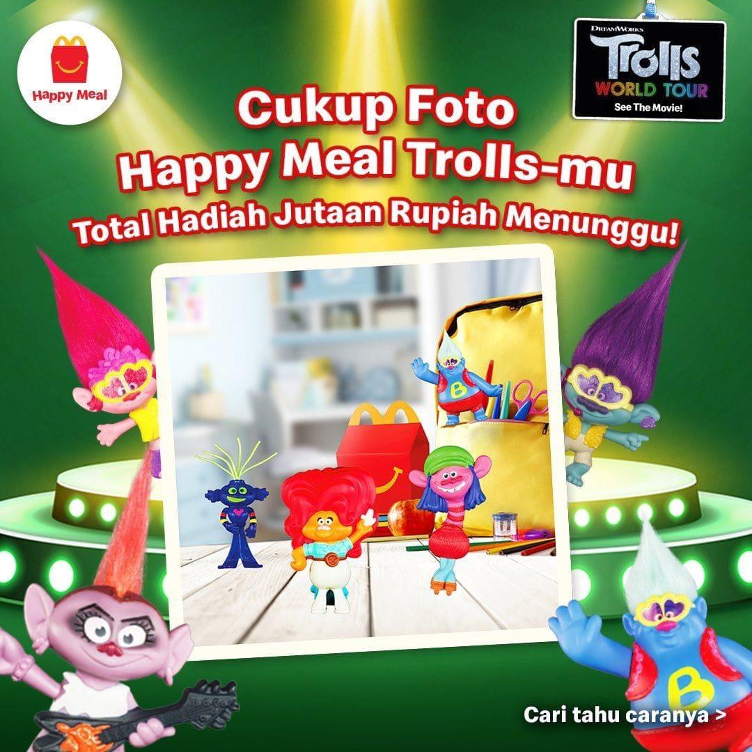 Hadiah Paket Happy Meal Troll Mcdonalds Terbaru Total Jutaan Rupiah