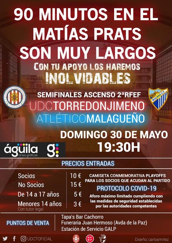El Atlético Malagueño se medirá al Torredonjimeno este domingo a las 19:30 horas