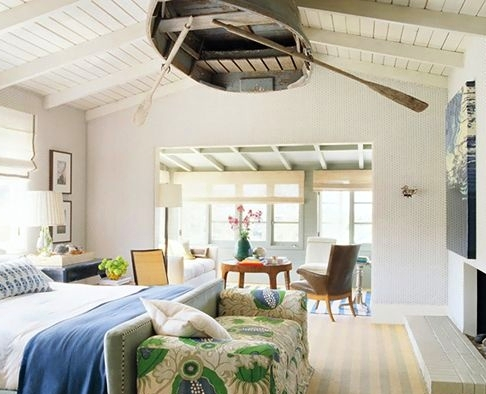 Boat hanging on Ceiling