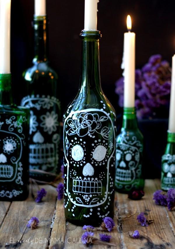 Botellas decoradas para halloween como dibujar una - Como decorar tu casa economicamente ...