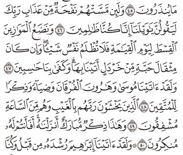 Tafsir Surat Al-Anbiya' Ayat 46, 47, 48, 49, 50