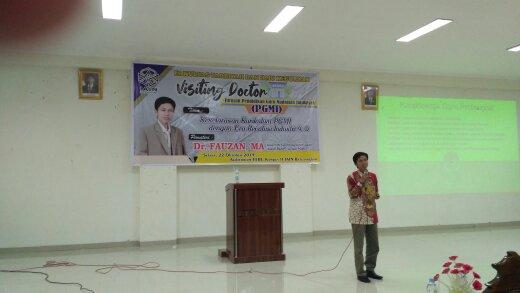 VISITING DOCTOR JURUSAN PENDIDIKAN GURU  MADRASAH IBTIDAIYAH    Menilik Pendidikan di Era Revolusi Industri 4.0