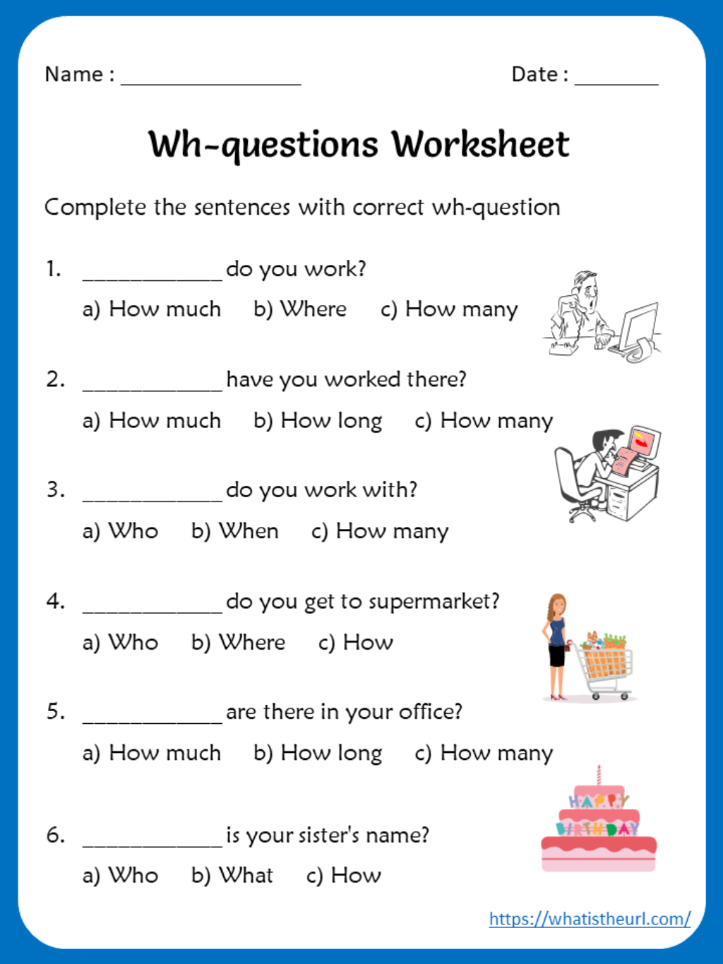 Octavo Ano Basico Lesson 2 Worksheets On Wh Question Words