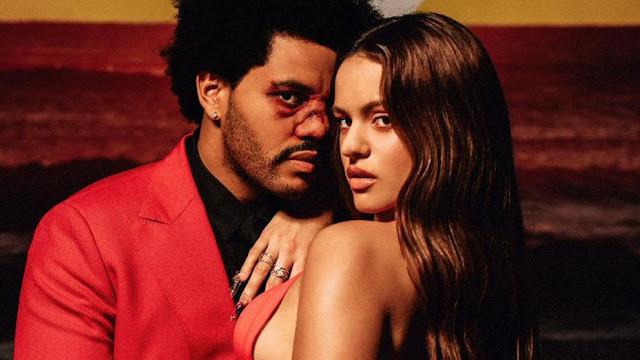 Rosalía y The Weeknd lanzan remix de 'Blinding lights'