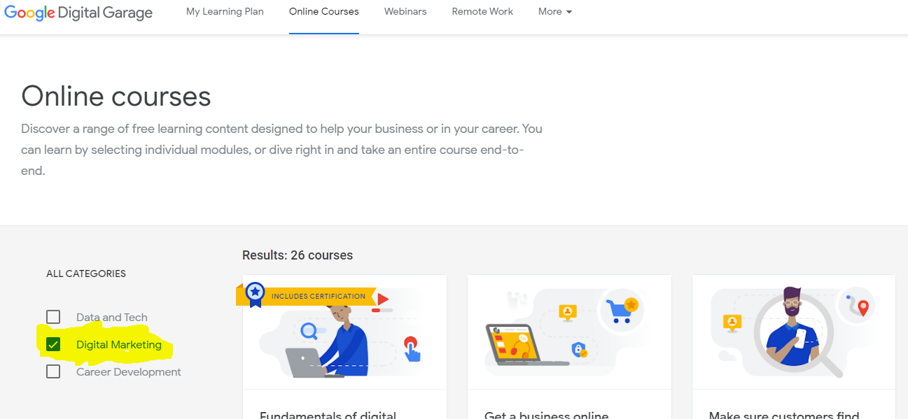 Of degree students, and more. Free Digital Marketing course with Google Certificate