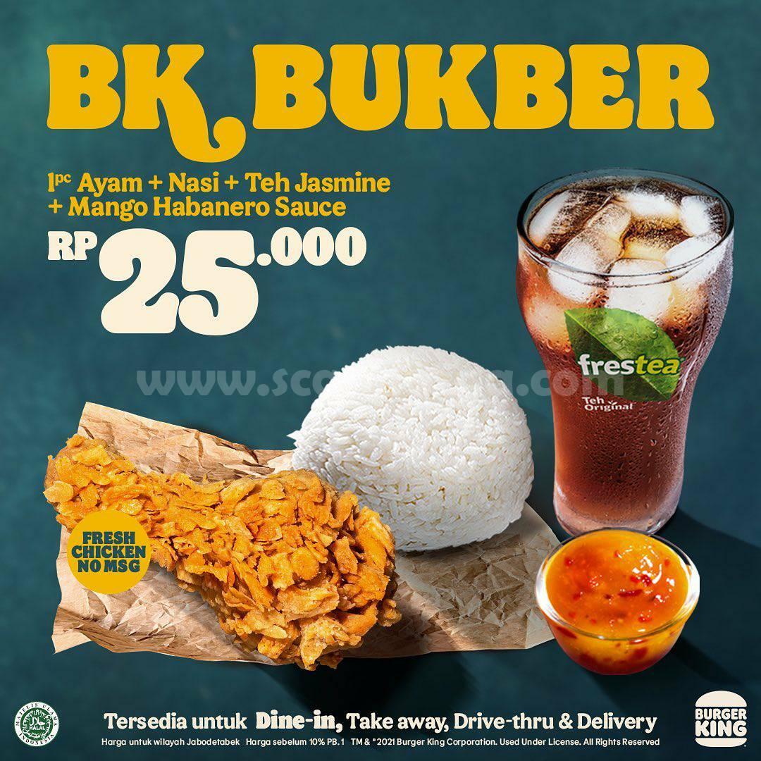 Burger King Promo BK BUKBER harga mulai Rp 25.000