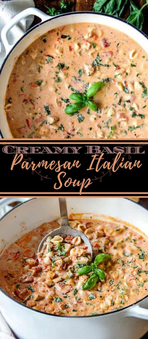 Creamy Basil Parmesan Italian Soup #healthyfood #dietketo #breakfast #food