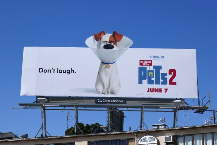 Secret Life of Pets 2 Dont laugh billboard