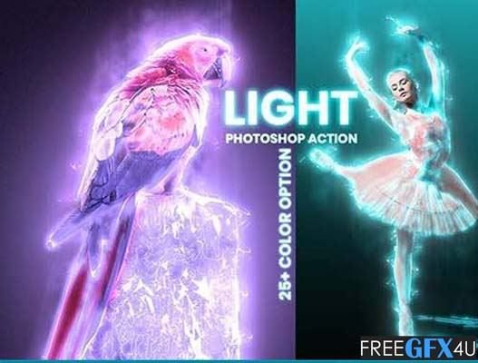 Light Effects Photoshop Action