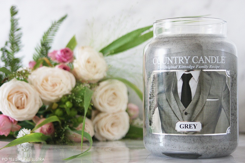 świeca country candle grey