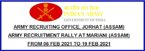 Indian Army Recruitment Rally 2021 in Assam