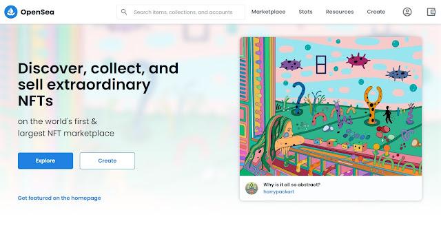 Screenshot Website OpenSea