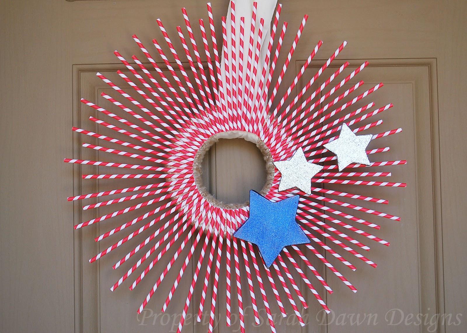 Sarah Dawn Designs Patriotic Wreath Tutorial