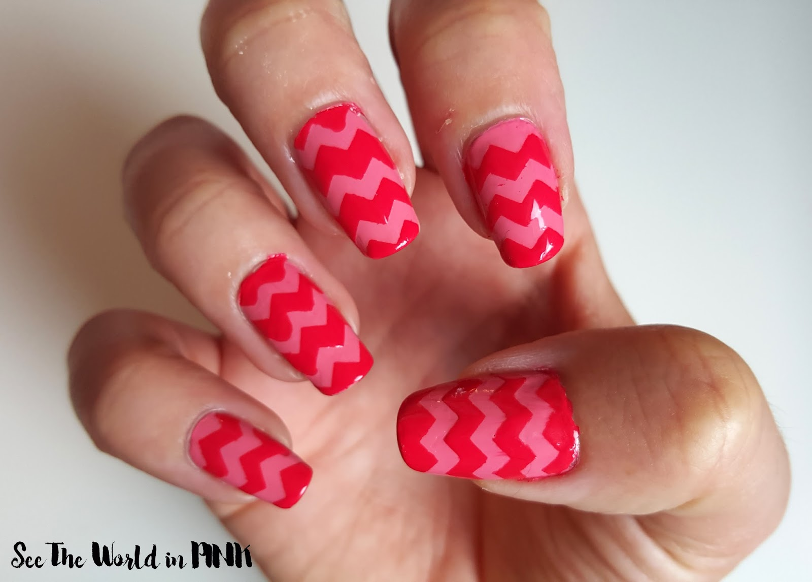 Chevron Nail Art and a Quick How To on Nail Vinyls