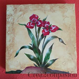 cuadro-pintados-a-mano-flores-rojas-Crea2conPasión