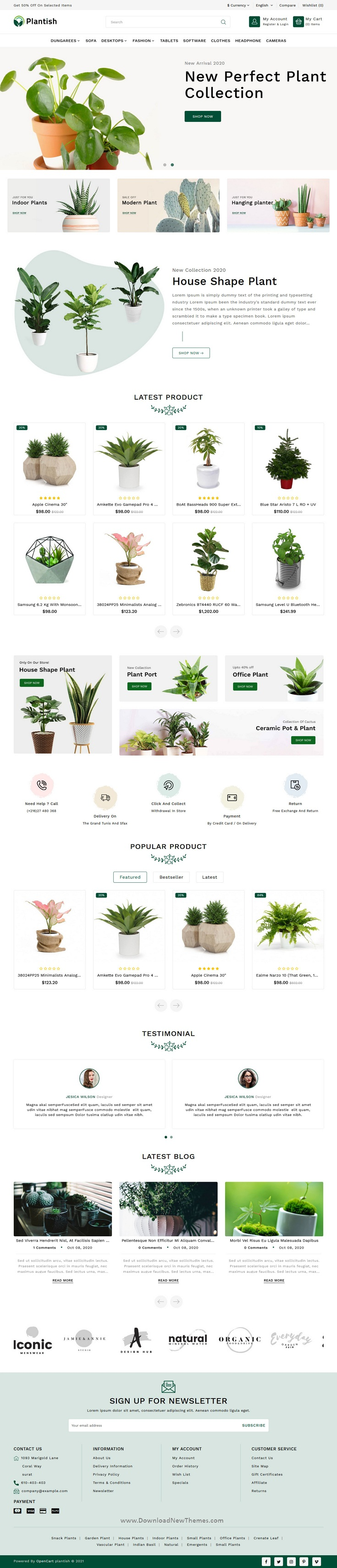 Plant Responsive OpenCart Theme