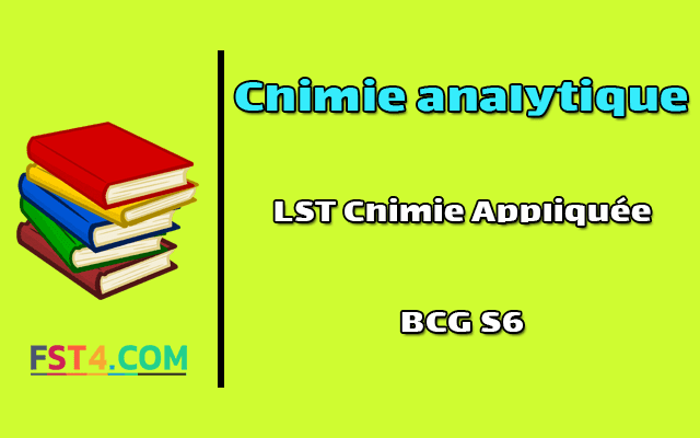 Cours Chimie analytique bcg s6 pdf