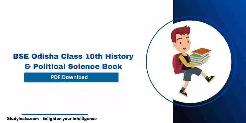BSE Odisha Class 10th History & Political Science Book PDF 2021