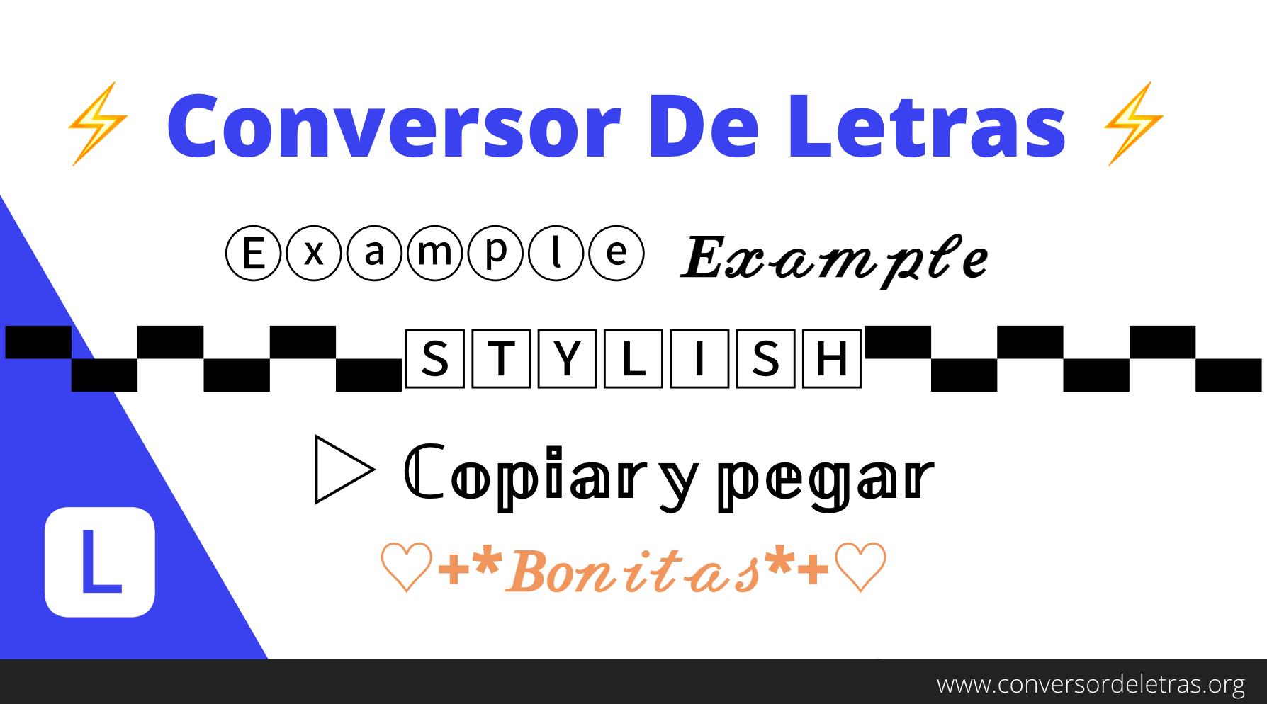 Conversor De Letras