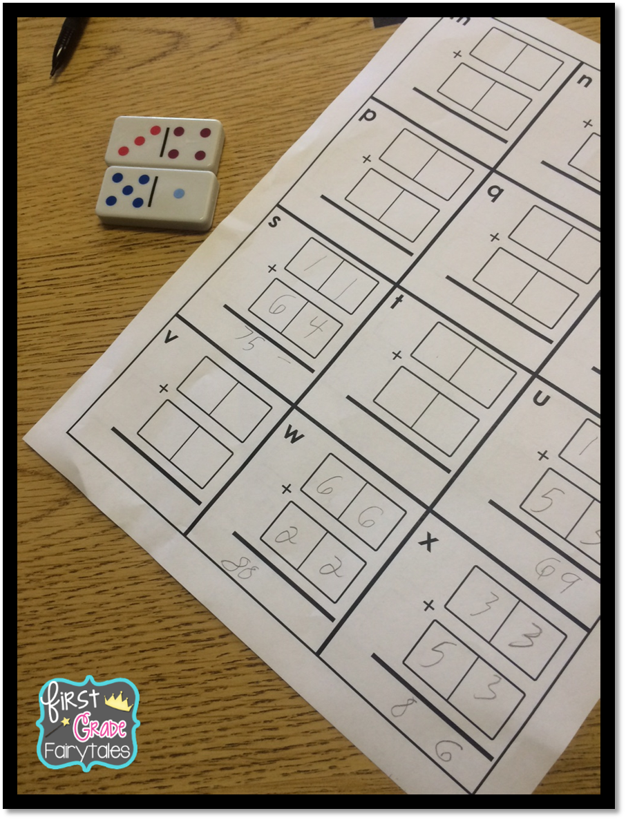 First Grade Fairytales Hands On Double Digit Addition