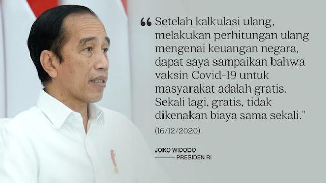 Syarat Vaksin Gratis Harus Jadi Peserta BPJS Aktif, Lagi-lagi Jokowi Kena Getahnya
