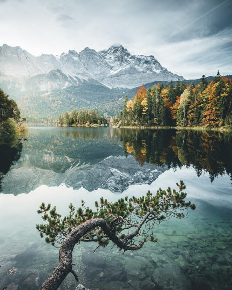 coloured - eibsee germany - probably the most fall-looking picture in the world