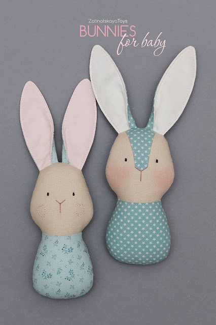 two bunny toys for baby