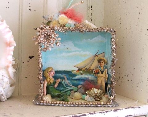 victorian beach diorama