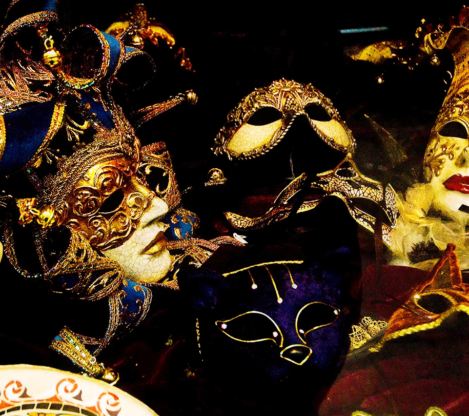 Carnival masks in Barcelona