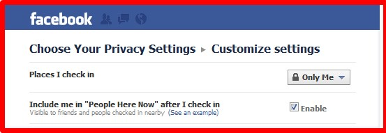 how to show location on facebook account