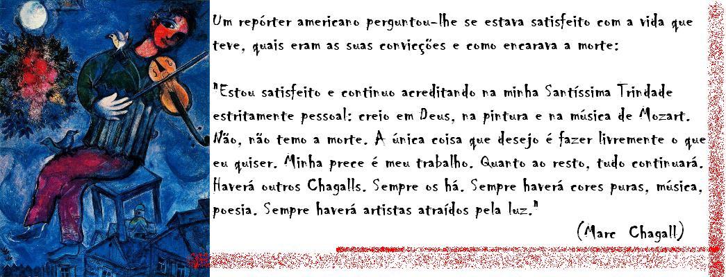 Artes Do Auwe Frase De Marc Chagall