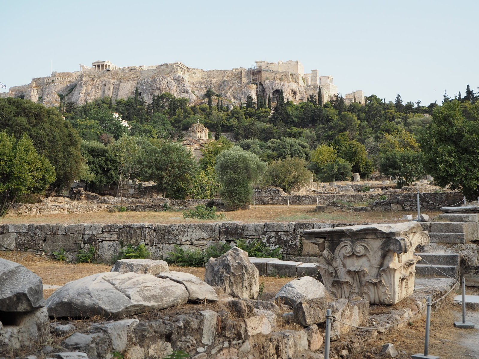 acropolis north slope archeological sites and ruins