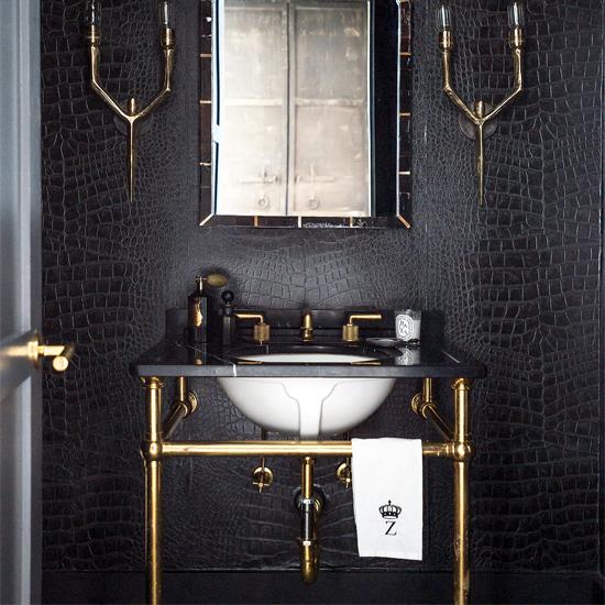 ByElisabethNL: Bathroom Inspiration: Crocodile Leather Black Walls on waterfall bathroom design, lowe's bathroom design, kenneth cole bathroom design, park bathroom design, shaker style bathroom design, ann sacks bathroom design, church bathroom design, starbucks bathroom design, vampire bathroom design, versace bathroom design, moen bathroom design, garden bathroom design, chanel bathroom design, industrial bathroom design, sage bathroom design, school bathroom design, steel bathroom design, hospital bathroom design, lighthouse bathroom design, nordstrom bathroom design,