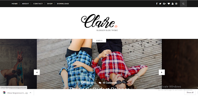 Clair Blogger Template