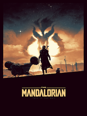 "The Mandalorian ""The Way"" Star Wars Screen Print by Matt Ferguson x Bottleneck Gallery"