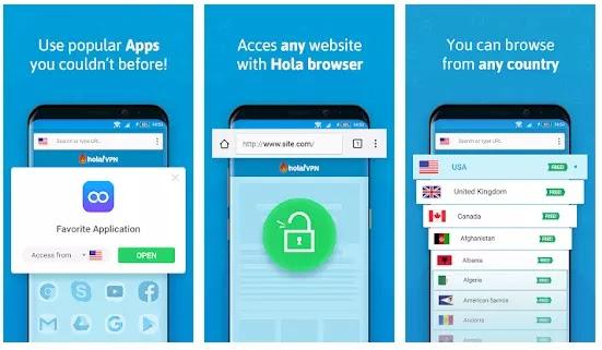 Hola VPN Premium Country